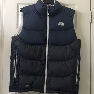North face puffer winter down vest